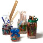 Reuse glass jars and use as storage utensils