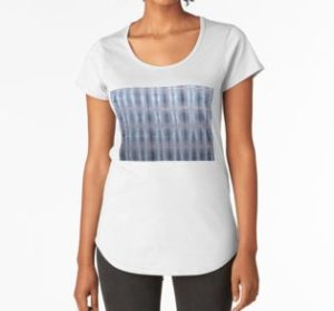 SKU259 Shibori Style Blue Pink 1 design is available on womens premium t-shirts.