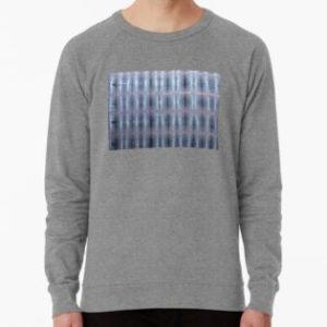 SKU259 Shibori Style Blue Pink 1 design is available on lightweight sweatshirts.