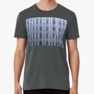 SKU259 Shibori Style Blue Pink 1 design is available on mens premium t-shirts.