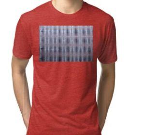 SKU259 Shibori Style Blue Pink 1 design is available on tri-blend t-shirts.