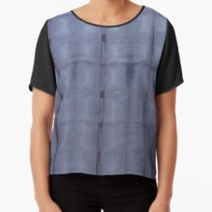 SKU303 Shibori Style Blue Denim 1 design is available on womens chiffon tops.