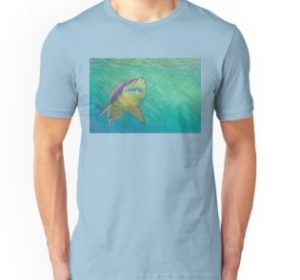 SKU318 Shark 2 design is available on unisex t-shirts.