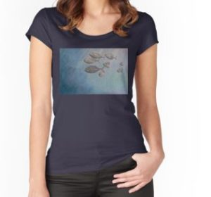 SKU332 Trevally at Manly is available on womens fitted scoop neck t-shirts.