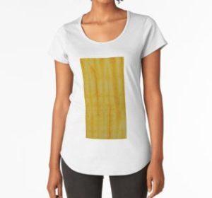 SKU333 Shibori Style Yellow 1 is available on womens premium t-shirts.