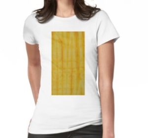 SKU333 Shibori Style Yellow 1 is available on womens t-shirts.