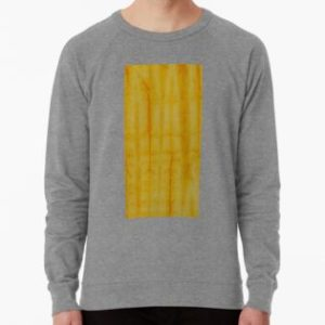 SKU333 Shibori Style Yellow 1 is available on lightweight sweatshirts.