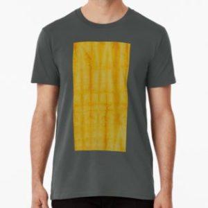 SKU333 Shibori Style Yellow 1 is available on mens premium t-shirts.