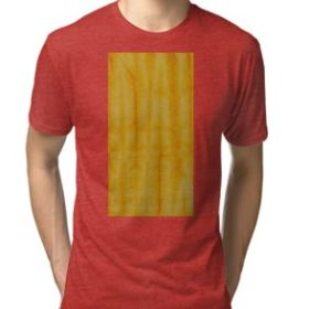 SKU333 Shibori Style Yellow 1 is available on tri-blend t-shirts.