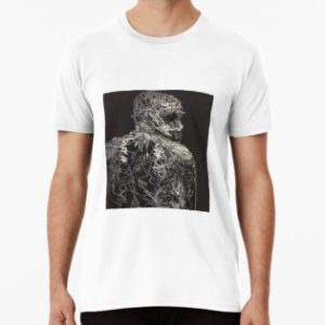 SKU347 Seated Model Sketch 1 is available on mens premium t-shirts.