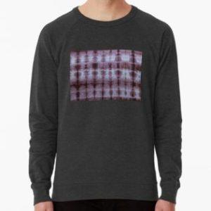 SKU349 Shibori Style Chocolate 1 is available on lightweight sweatshirts.