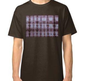 SKU349 Shibori Style Chocolate 1 is available on classic t-shirts.