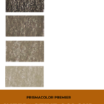"Pinterest image of grey colour swatches on left side of image. Text says ""Prismacolor Premier Interactive Colour Chart. Search and sort at Artnitso.com""."