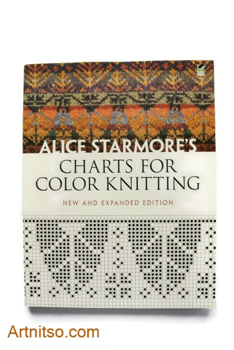 Alice Starmores Charts for Color Knitting cover - Artnitso.com text