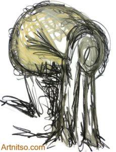 Final art school class drawing. Charcoal study 10 Artnitso.com