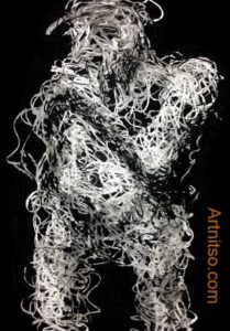 Charcoal drawing study 11 Artnitso.com