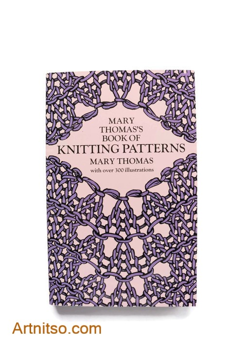 Mary Thomass Book of Knitting Patterns - cover - Artnitso.com text