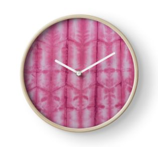 SKU 545 Shibori Style Fuschia 9 is available on Clocks