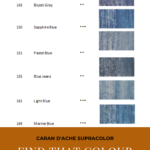 Pinterest image - Caran d'Ache Supracolor interactive colour chart showing blue colour swatches. Text says 'Caran d'Ache Supracolor - Find that colour now - search and sort the online colour chart at Artnitso.com.'
