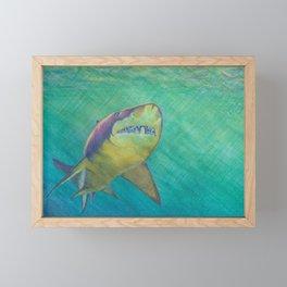 SKU318 Shark 2 Framed Mini Art Print