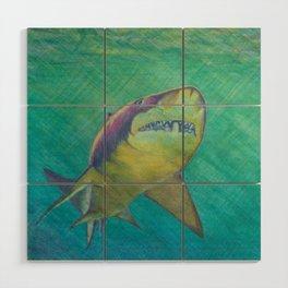 SKU318 Shark 2 Wood wall art