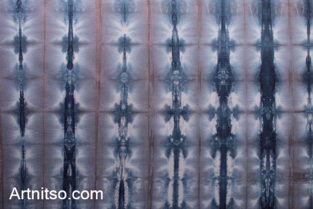 SKU547 Shibori Style - Blue Pink 2 Artnitso.com