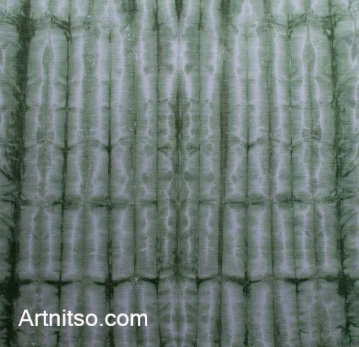 SKU579 Shibori Style - Green 7 Artnitso.com