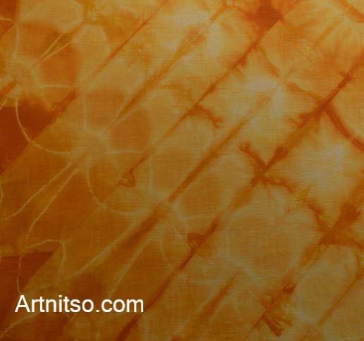 SKU591 Shibori Style - Orange Yellow 6 Artnitso.com