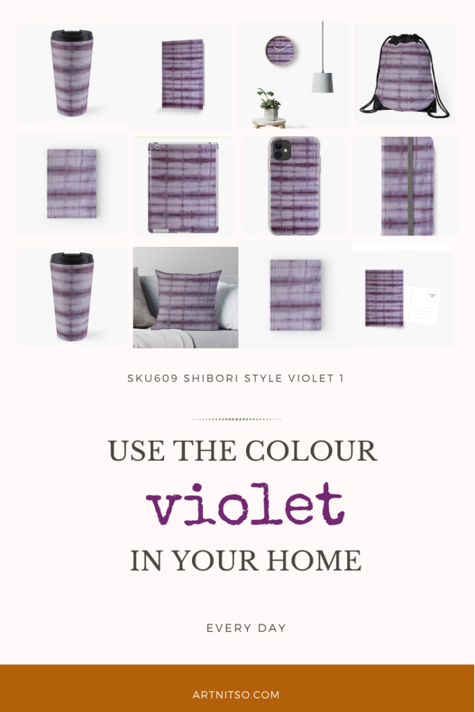 Pinterest image of SKU609 Shibori Style Violet 1