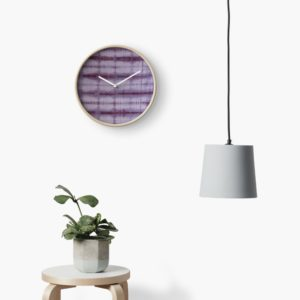 SKU609 Shibori Style Violet 1 is available on Clocks