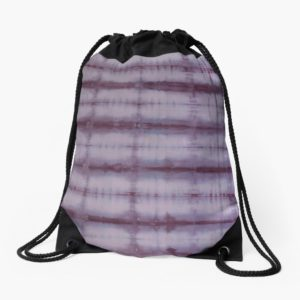 SKU609 Shibori Style Violet 1 is available on Drawstring Bags