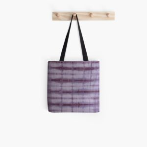 SKU609 Shibori Style Violet 1 is available on all over print tote bags