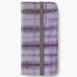 SKU609 Shibori Style Violet 1 is available on iphone wallets