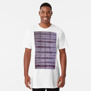 SKU609 Shibori Style Violet 1 is available on long t-shirts