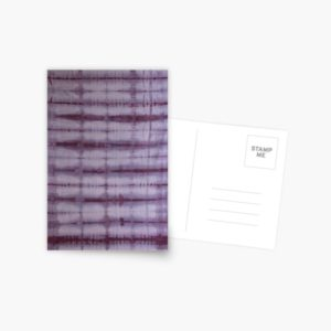 SKU609 Shibori Style Violet 1 is available on postcards