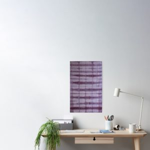 SKU609 Shibori Style Violet 1 is available on posters