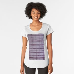SKU609 Shibori Style Violet 1 is available on premium scoop t-shirts