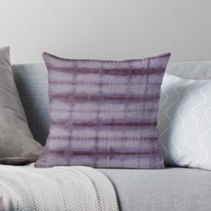 SKU609 Shibori Style Violet 1 is available on throw pillows