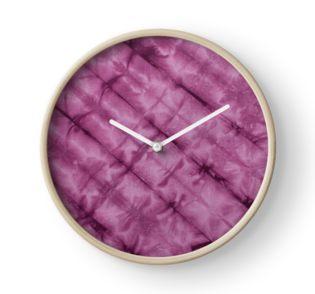 SKU611 Shibori Style - Violet 3 is available on clocks.