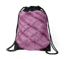 SKU611 Shibori Style - Violet 3 is available on drawstring bags.