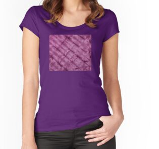 SKU611 Shibori Style - Violet 3 is available on fitted scoop t-shirts.