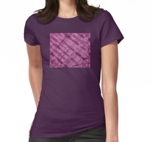 SKU611 Shibori Style - Violet 3 is available on fitted t-shirts.