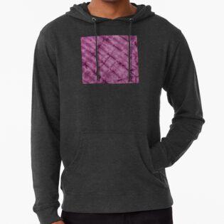 SKU611 Shibori Style - Violet 3 is available on lightweight hoodies.