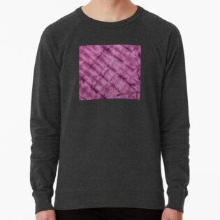 SKU611 Shibori Style - Violet 3 is available on lightweight sweatshirts.