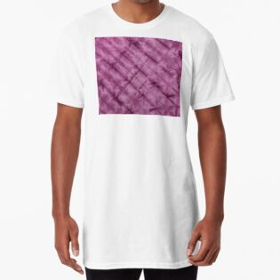 SKU611 Shibori Style - Violet 3 is available on long t-shirts.