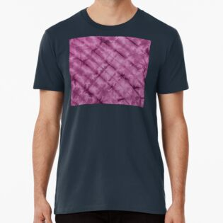 SKU611 Shibori Style - Violet 3 is available on premium t-shirts.