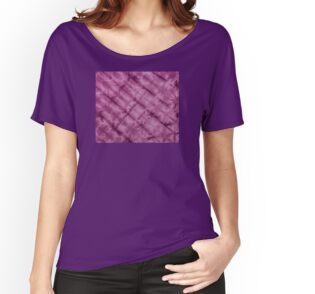 SKU611 Shibori Style - Violet 3 is available on relaxed fit t-shirts.
