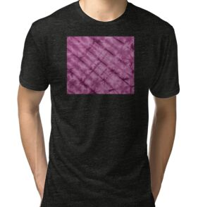 SKU611 Shibori Style - Violet 3 is available on tri-blend t-shirts.