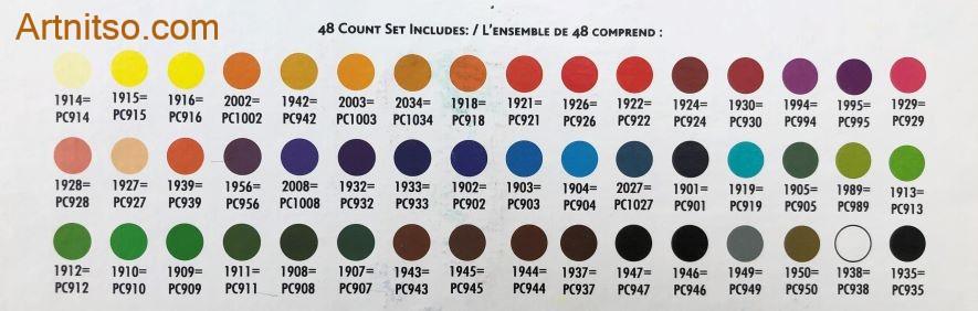 Prismacolor Artsix 48 colours Artnitso.com