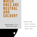 Pinterest image of Derwent Inktense blocks neutral pie chart. Text says 'Derwent Inktense blocks - which ones are neutral and colour? Read about it at Artnitso.com'